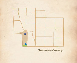 Delaware County map
